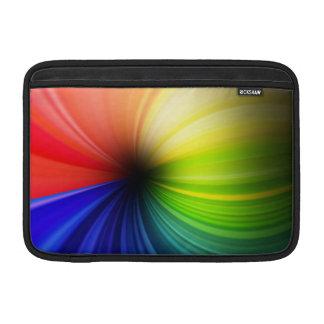 Arte del arco iris de la diversión fundas para macbook air