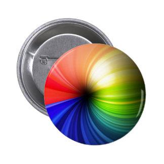 Arte del arco iris de la diversión pin redondo de 2 pulgadas