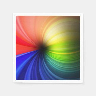 Arte del arco iris de la diversión servilletas desechables