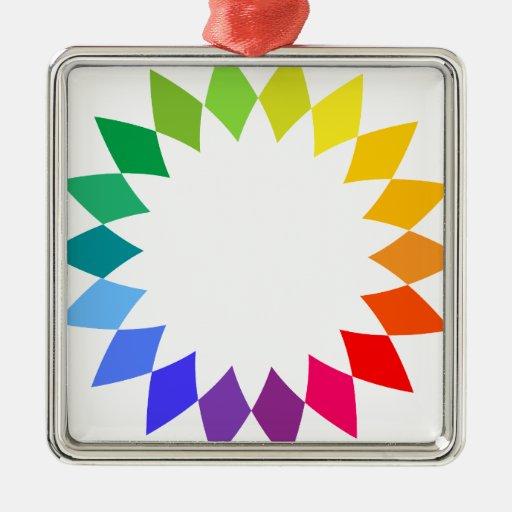 Arte del arco iris ornamentos de reyes magos