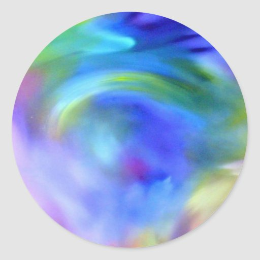 Arte del arco iris pegatina redonda