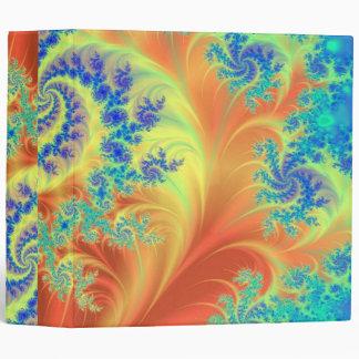 """Arte del azul, anaranjado y verde del fractal carpeta 2"""""""