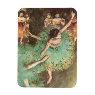 Arte del ballet del vintage, bailarín verde de imán