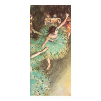 Arte del ballet del vintage, bailarín verde de lona