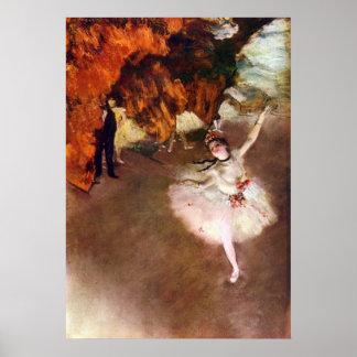 Arte del ballet del vintage, bailarina de Prima de Póster