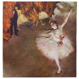 Arte del ballet del vintage, bailarina de Prima de Servilleta