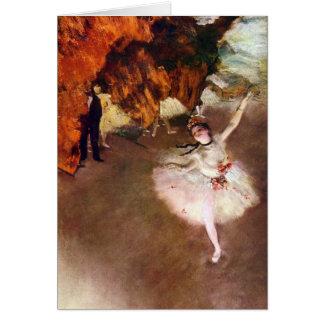 Arte del ballet del vintage, bailarina de Prima de Tarjeta De Felicitación