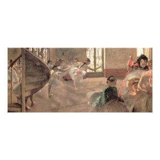 Arte del ballet del vintage, el ensayo de Edgar Tarjeta Publicitaria Personalizada