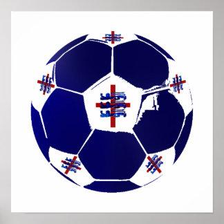 Arte del balón de fútbol de los leones del fútbol  impresiones