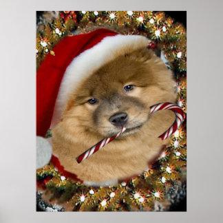 ARTE del bastón de caramelo del navidad del perro  Impresiones