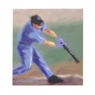 Arte del bateador del béisbol bloc de notas