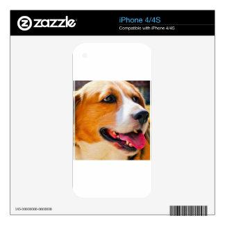 Arte del beagle iPhone 4 skin