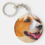 Arte del beagle llavero redondo tipo pin