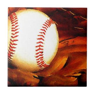 Arte del béisbol azulejo cuadrado pequeño