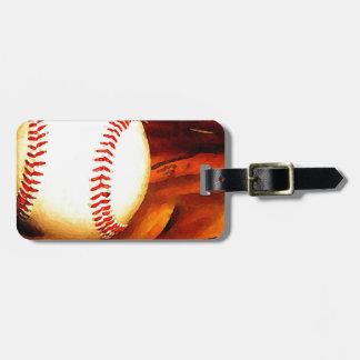 Arte del béisbol etiquetas para maletas