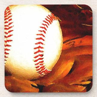 Arte del béisbol posavasos de bebidas