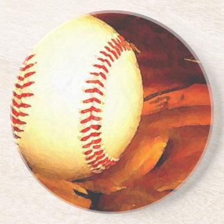 Arte del béisbol posavaso para bebida