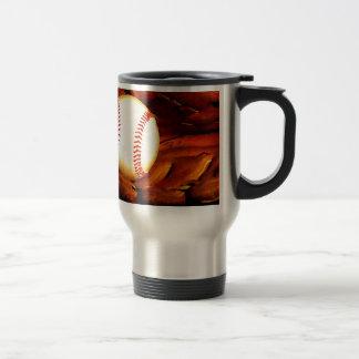 Arte del béisbol taza de viaje