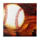 Arte del béisbol teja  ceramica