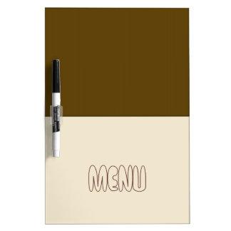 Arte del bloque del menú del café y de la crema tableros blancos