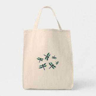 Arte del bolso de la libélula del baile bolsa tela para la compra