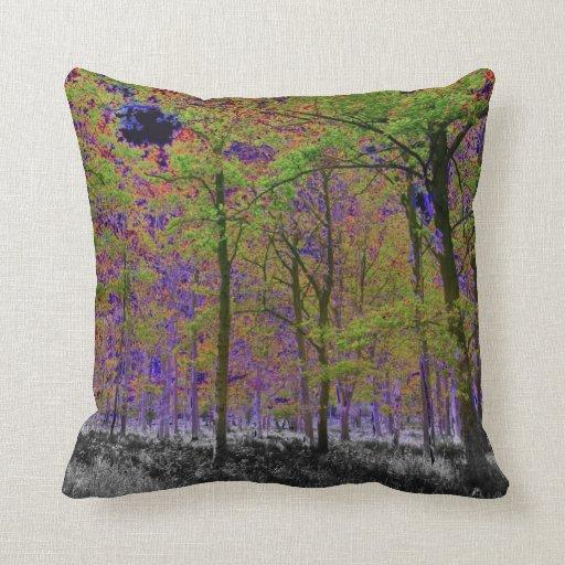 Arte del bosque almohadas