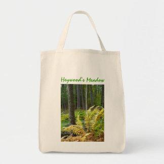 Arte del bosque bolsa tela para la compra