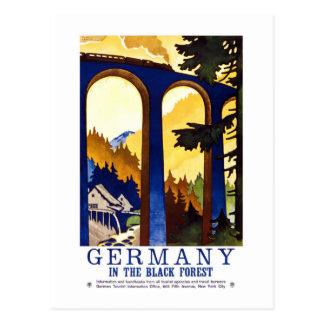 Arte del bosque negro de Alemania del vintage Postal