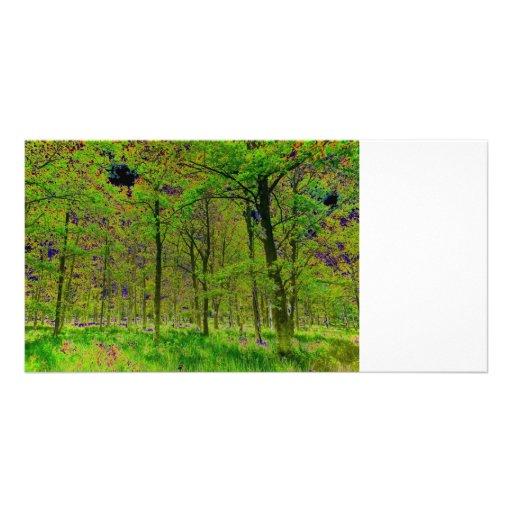 Arte del bosque tarjeta personal con foto