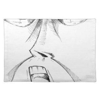 Arte del bosquejo del dibujo de la cara hecho a mantel individual