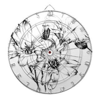 Arte del bosquejo del dibujo de la flor hecho a