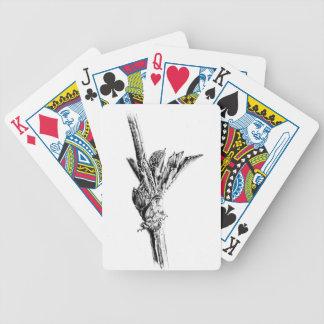 Arte del bosquejo del dibujo de la flor hecho a barajas de cartas