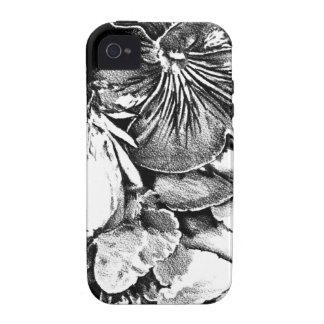 Arte del bosquejo del dibujo de la flor hecho a iPhone 4 carcasas
