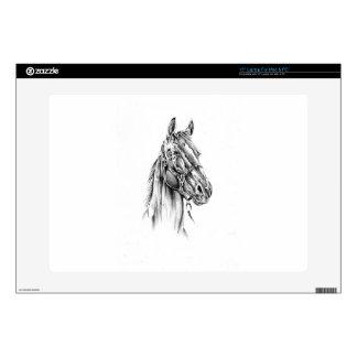 Arte del bosquejo del dibujo del caballo hecho a skins para 38,1cm portátil
