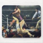 Arte del boxeo mouse pad