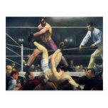 Arte del boxeo postal