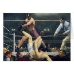 Arte del boxeo tarjeta de felicitación