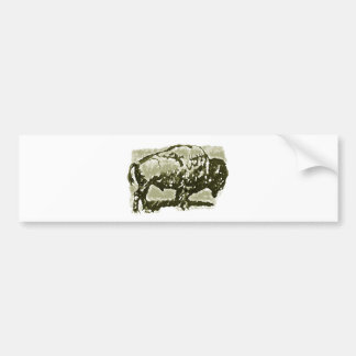 Arte del búfalo pegatina para auto