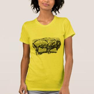 Arte del búfalo camiseta