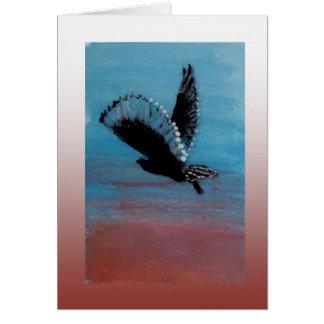 Arte del búho de la salida del sol tarjeta de felicitación