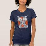 Arte del búho del vintage camisetas
