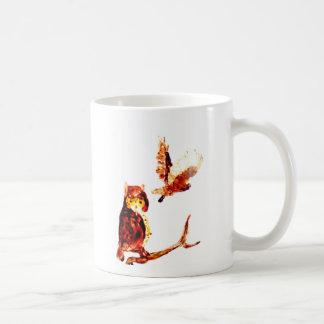 Arte del búho rojizo taza de café