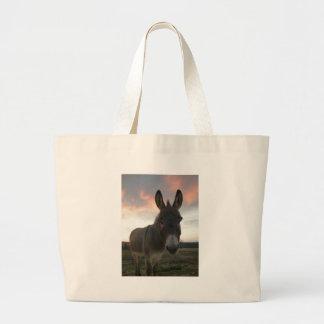 Arte del burro bolsa tela grande