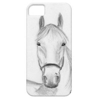 Arte del caballo blanco iPhone 5 carcasa