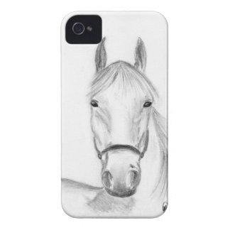 Arte del caballo blanco iPhone 4 Case-Mate cobertura
