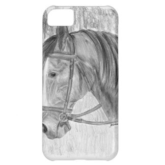 Arte del caballo de la belleza que escucha funda para iPhone 5C