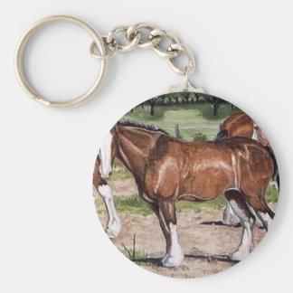 Arte del caballo de la regla de Clydesdales Llavero