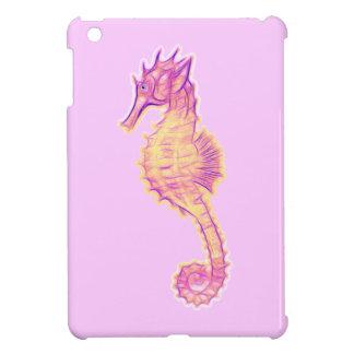 Arte del caballo de mar en un mini caso del iPad