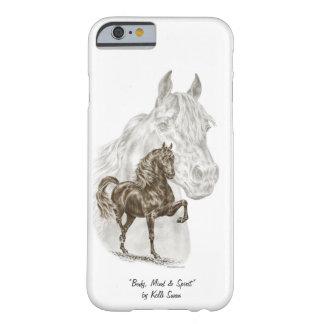 Arte del caballo de Morgan Funda De iPhone 6 Barely There