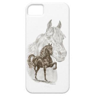 Arte del caballo de Morgan iPhone 5 Funda